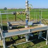 Het materiaal en de technologieën op olievelden Oliebron royalty-vrije stock foto
