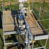 Het materiaal en de technologieën op olievelden Oliebron royalty-vrije stock fotografie