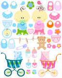 Het materiaal van de baby Stock Foto's