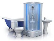 Het materiaal van de badkamers Royalty-vrije Stock Fotografie
