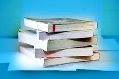 Het Materiaal van de boekenstudie stock foto's
