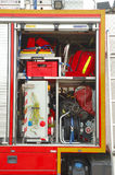 Het materiaal van de brandbrigade Stock Foto