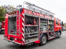 Het materiaal van de Firebrigadeauto Royalty-vrije Stock Afbeelding