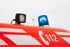 Het materiaal van de Firebrigadeauto Stock Fotografie