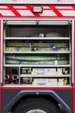 Het materiaal van de Firebrigadeauto Stock Foto's
