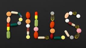 Het materiaal van de geneeskunde. Pillen Royalty-vrije Stock Afbeelding