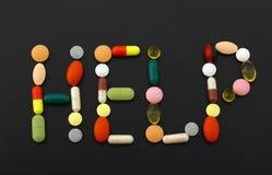 Het materiaal van de geneeskunde. Pillen Stock Foto's