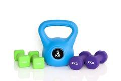 Het materiaal van de gymnastiektraining Stock Foto