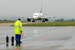 Het materiaal van de luchthaven Stock Afbeeldingen