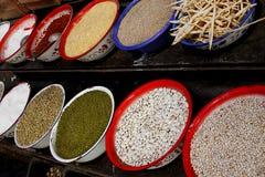 Het materiaal van de specerij stock foto's
