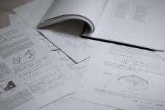 Het materiaal van de studie Stock Afbeelding