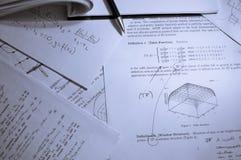 Het materiaal van de studie Stock Foto's