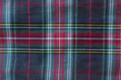 Het materiaal van het geruit Schots wollen stofpatroon Stock Foto's