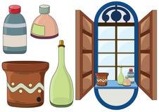 Het materiaal van het huis vector illustratie