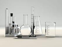 Het materiaal van het laboratorium stock afbeelding