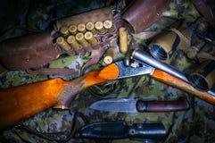 Het materiaal van het jagersleger royalty-vrije stock fotografie