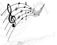 Het materiaal van muzieknoten stock illustratie