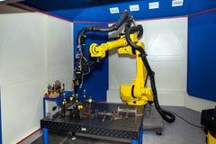 Het materiaal van het robotlassen stock afbeeldingen