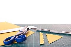 Het materiaal van Scrapbooking Stock Foto