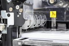 Het materiaal voor een pers in een modern drukhuis Royalty-vrije Stock Afbeeldingen