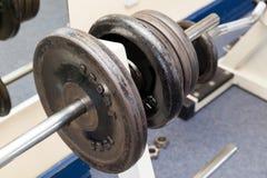 Het materiaalgewichten van de geschiktheidsoefening Stock Fotografie