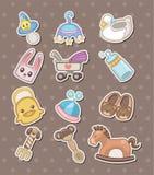 Het materiaalstickers van de baby Stock Afbeeldingen
