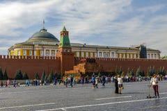 Het mausoleum Rood Vierkant van Lenin in het Kremlin royalty-vrije stock foto