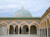 Het mausoleum van Bourguiba in Monastir Stock Foto's