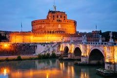 Het Mausoleum van Hadrian Castel Sant ` Angelo in Rome Stock Fotografie