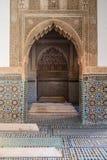 Het mausoleum van het Saadiangraf in Marrakech, Marokko Stock Foto's