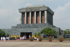 Het Mausoleum van Ho Chi Minh in Hanoi, Vietnam Royalty-vrije Stock Afbeeldingen