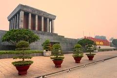 Het Mausoleum van Ho Chi Minh, Hanoi, Vietnam. Stock Fotografie