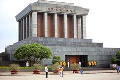 Het Mausoleum van Ho Chi Minh in Hanoi, Vietnam stock afbeeldingen
