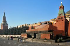 Het mausoleum van Lenin stock afbeeldingen