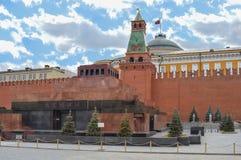 Het mausoleum van Lenin en de torens van het Kremlin Royalty-vrije Stock Foto's