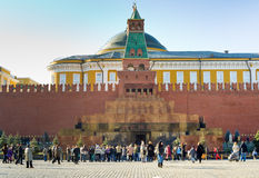 Het Mausoleum van Lenin in Moskou stock afbeelding