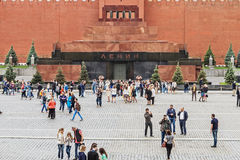 Het mausoleum van Lenin op rood vierkant Royalty-vrije Stock Afbeeldingen