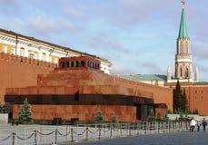 Het mausoleum van Lenin ` s op Rood Vierkant in Moskou Stock Afbeelding