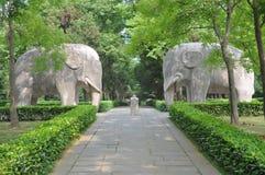 Het Mausoleum van Xiaoling van Ming, Nanjing Stock Foto