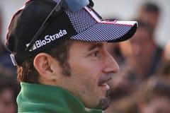 Het maximum Rennende Team van Biaggi Aprilia RSV4 Aprilia Stock Afbeelding