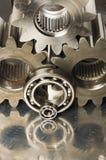 Het mechanische idee is bruinachtig Royalty-vrije Stock Afbeeldingen