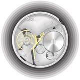 Het mechanisme van een horloge Stock Afbeeldingen