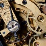 Het mechanisme van een oud horloge Stock Afbeelding