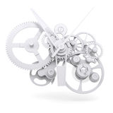 Het mechanisme van het conceptenhorloge Stock Afbeeldingen