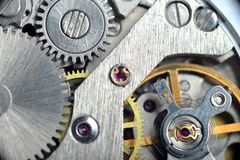 Het mechanisme van het horloge Stock Foto