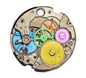 Het mechanisme van het horloge Stock Afbeeldingen