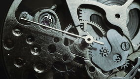 Het mechanisme van het horloge stock videobeelden