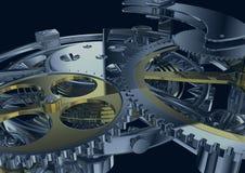 Het mechanisme van het uurwerk vector illustratie