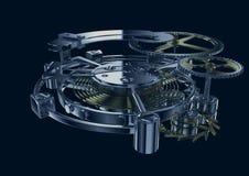 Het mechanisme van het uurwerk royalty-vrije illustratie
