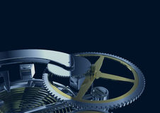 Het mechanisme van het uurwerk Royalty-vrije Stock Afbeeldingen
